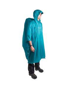 Peleryna przeciwdeszczowa - płachta biwakowa ULTRA-SIL® NANO TARP PONCHO blue