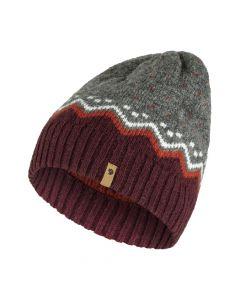 Czapka Fjallraven Ovik Knit Hat dark garnet 356