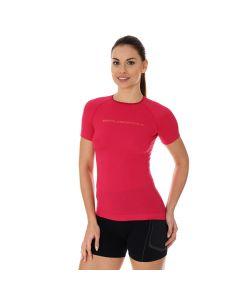 Damska koszulka do biegania Brubeck 3D PRO RUN SS12030 raspberry