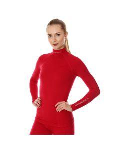 Bluza termoaktywna Brubeck Extreme Wool LS11930 raspberry