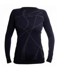 Koszulka termoaktywna Fjord Nansen AKKA LONG SHIRT black/graphite