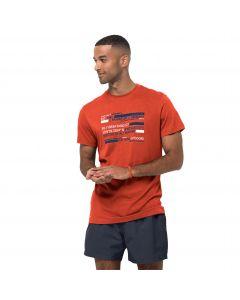 T-shirt męski ESTABLISHED IN T M chili