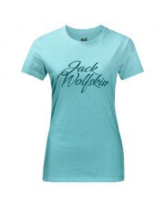 Koszulka damska BRAND T aqua