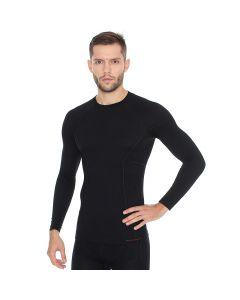 Koszulka z długim rękawem Brubeck Active Wool LS12820 black