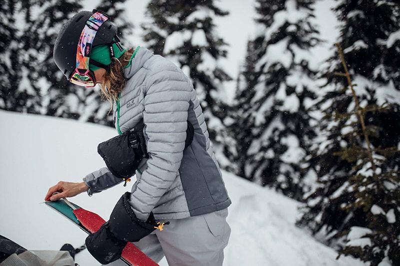 skitouring - zakładanie foki