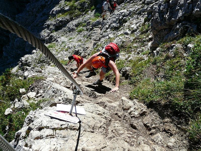 wspinaczka na ferracie, Dolomity