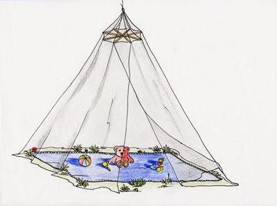 moskitiera podwieszana