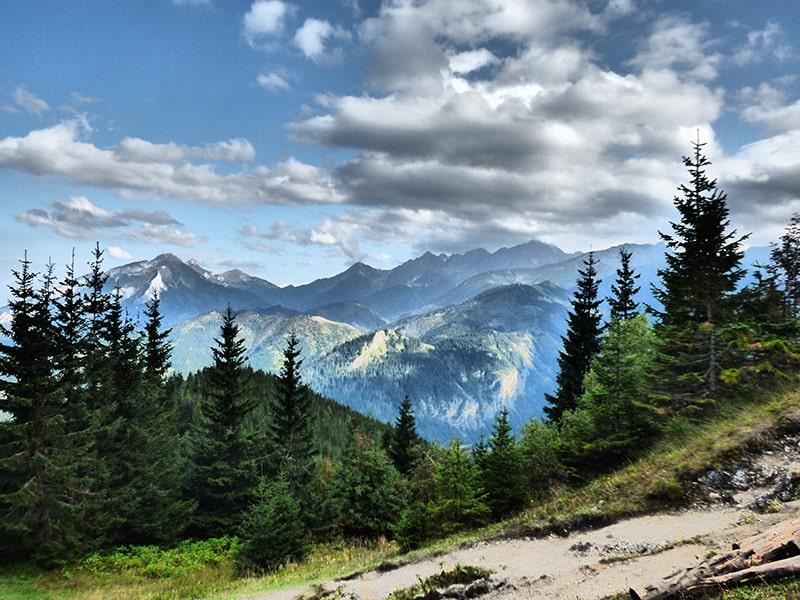 Z Gęsiej Szyi na Tatry Bielskie i otoczenie Doliny Jaworowej