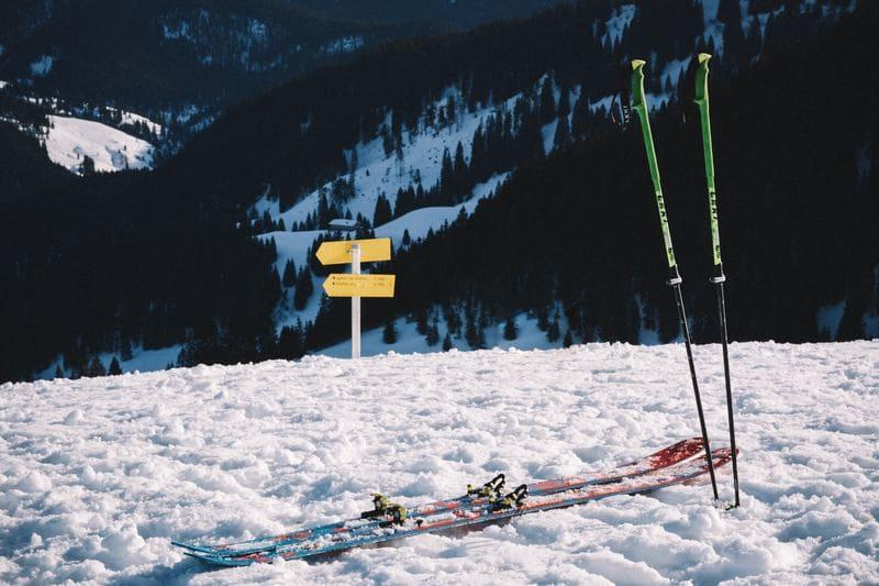 na nartach w Beskidzie