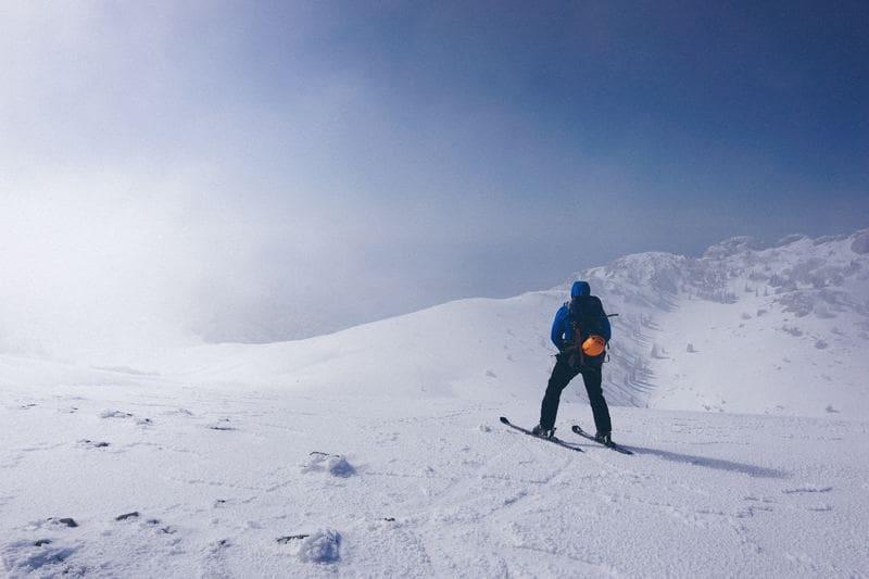na nartach w Karkonoszach