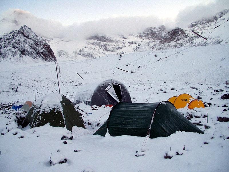 obóz bazowy pod Aconcaguą