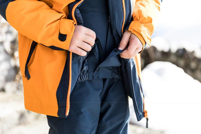 spodnie na narty, z fartuchem