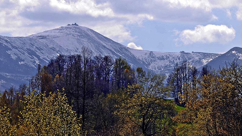 Masyw Śnieżki, najwyższego szczytu Sudetów