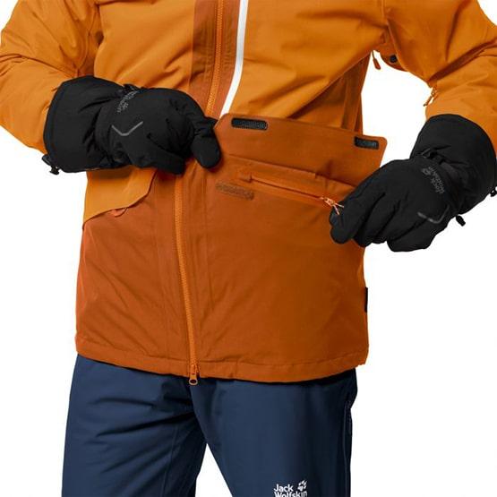 kieszenie w kurtce narciarskiej Big White Jack Wolfskin