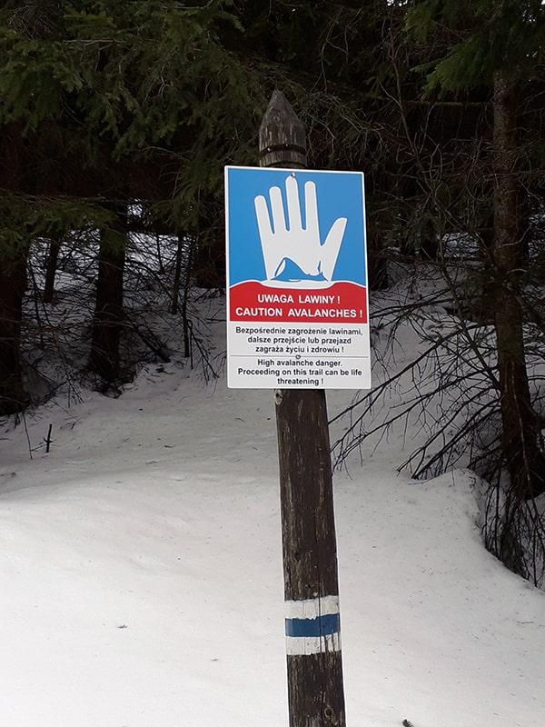 Stop! zagrożenie lawinowe!