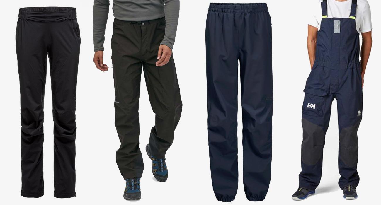 spodnie przeciwdeszczowe z membraną w góry