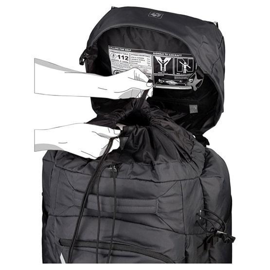 komin powiększający pojemność plecaka