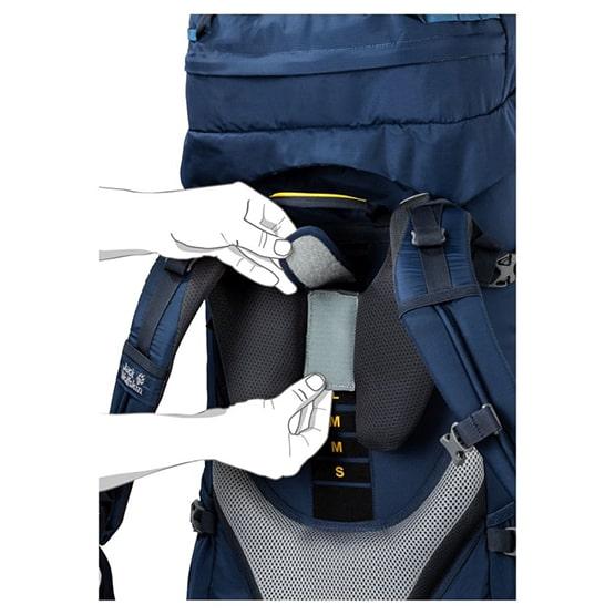 regulacja systemu nośnego w plecaku