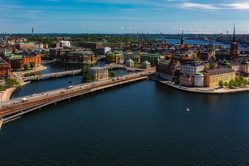 Panorama na Riddarholmen, Riksdag, Gamla Stan