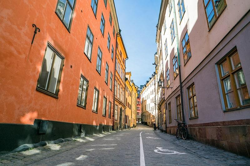 Jedna z uliczek charakterystycznych dla Gamla Stan