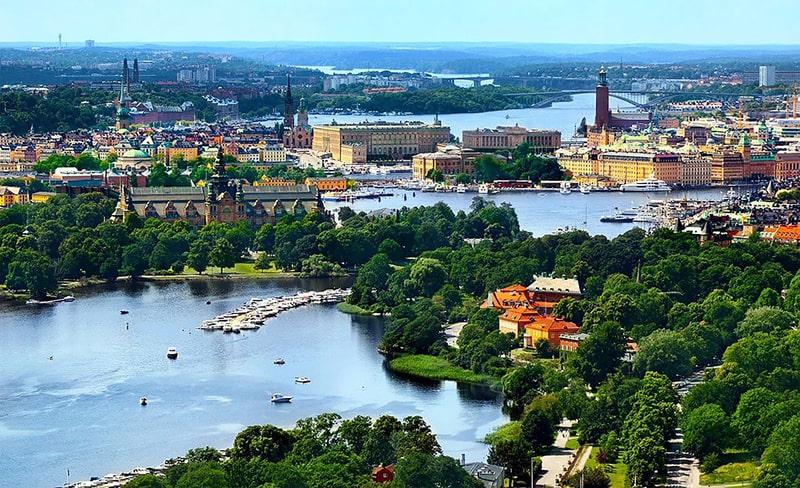 Panorama Sztokholmu – Muzeum Nordyckie, Zamek Królewski, Ratusz