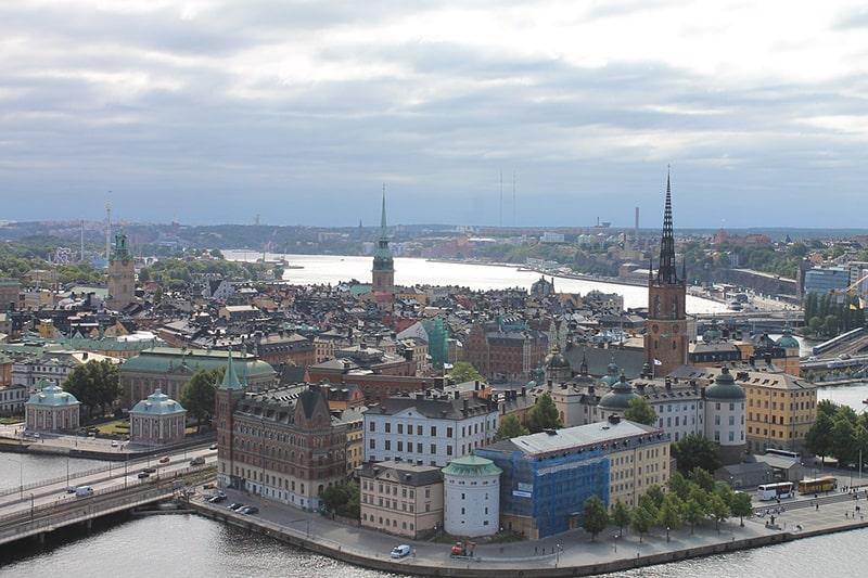 Panorama na Riddarholmen i Gamla Stan