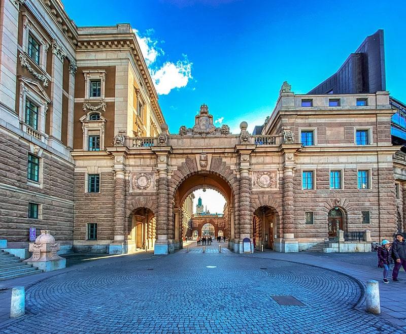 Przejście pomiędzy budynkami Parlamentu – Riksdag