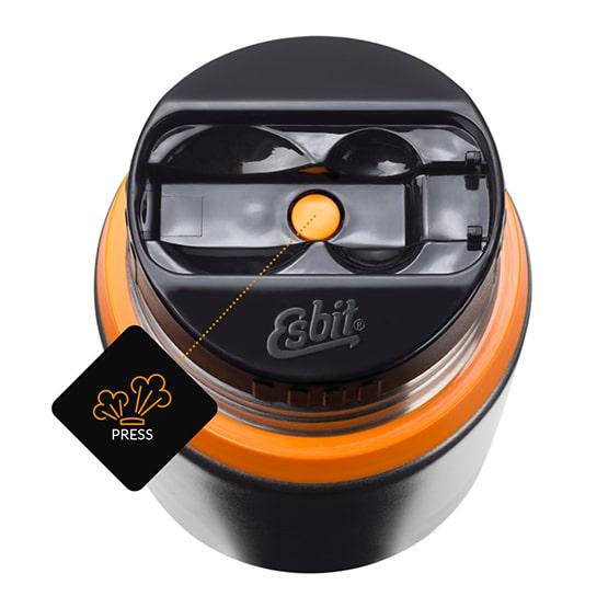 Przydatny bezpiecznik do wyrównywania ciśnienia przed otwarciem termosu z jedzeniem