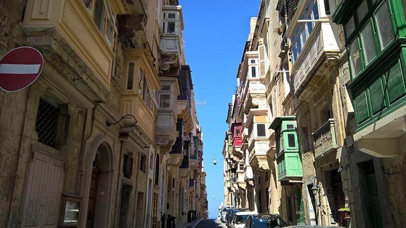 Malta kamienice Valetty