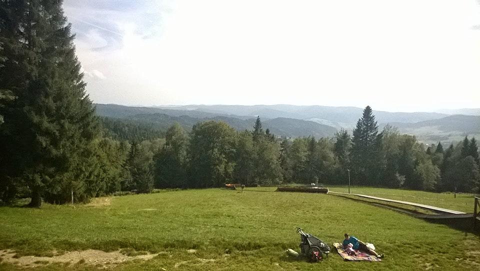 Krynica Zdrój - Góra Parkowa|Polana rekreacyjna na wierzchołku Góry Parkowej