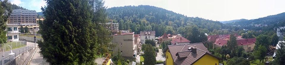 Krynica Zdrój - Góra Parkowa|Krynica Zdrój  - panorama miasta