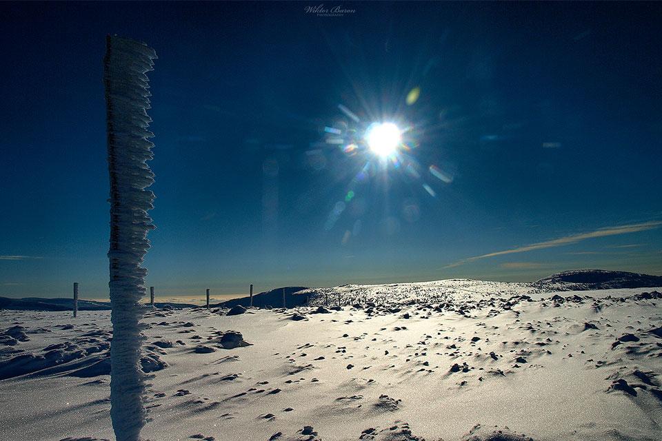 Karkonosze zimą  Fot. Wiktor Baron, baronphotography.eu.