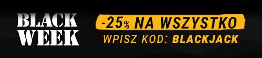 Black Week -25% z kodem: BlackJack